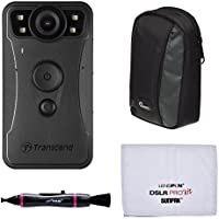 Transcend DrivePro Body 30 1080p HD Wi-Fi Video Camera Camcorder with Case + Pouch + Cleaning Kit
