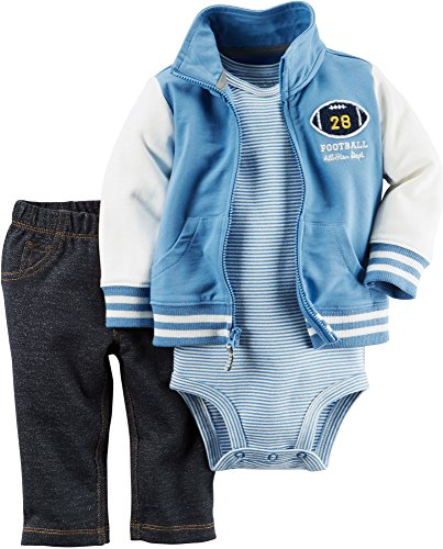 Carter's Baby Boys 3-Piece Varsity Jacket Set 9 Months