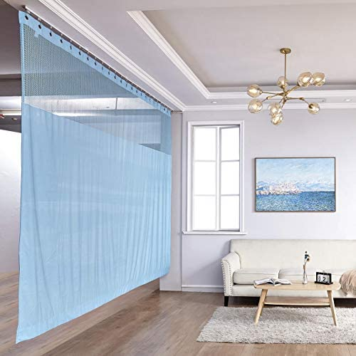 TWOPAGES 15ft Wide x 8ft Tall Flame Retardant Divider Curtains Privacy Cubicle Curtain