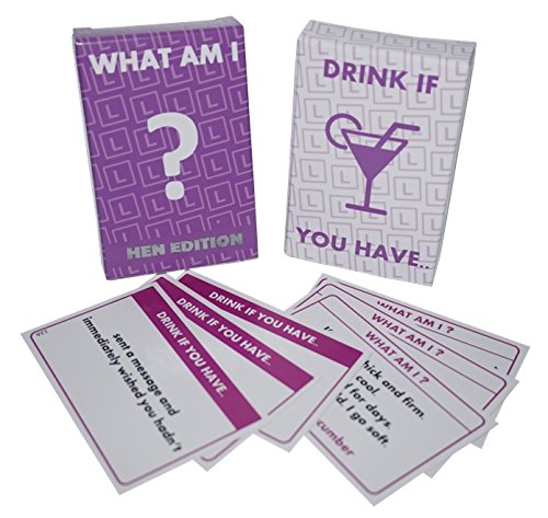 Hen Night Party Games - WHAT AM I ? / DRINK IF YOU HAVE ....•:* 2 GAMES *:•. UK Party Games