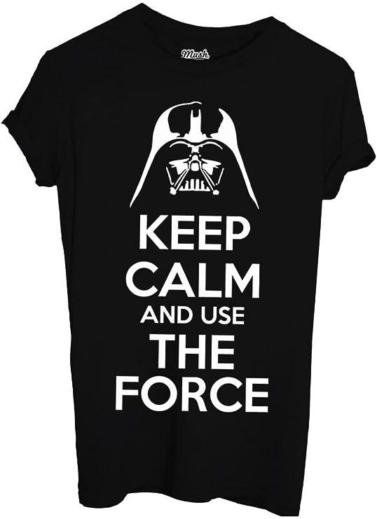 Uomo-XXL-Nera Film by Dress Your Style MUSH T-Shirt Keep Calm Star Wars LA Forza