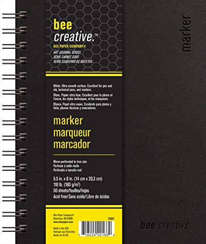 Bee Paper Company BEE-20001 Creative Marker Book, 5-1/2