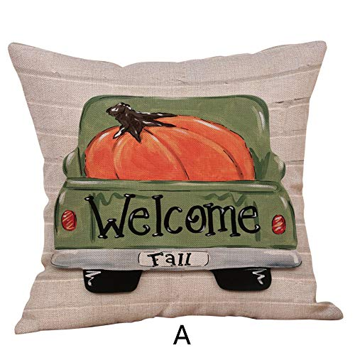 CHIDY Halloween Square Pillow Cases Linen Sofa Pumpkin Ghosts car Cushion Cover Home Decor