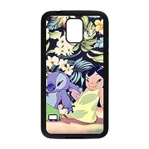 Samsung Galaxy S5 Case Black Disneys Lilo And Stitch Cell Phone Case Cover T1L6BC