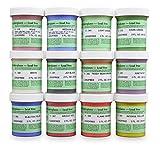 Amaco Velvet Underglaze Set 4 - Set of 12 Colors - 2 Oz. Jars