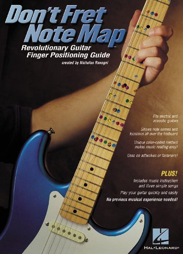 Don't Fret Note Map(TM) - Revolutionary Guitar Finger Positioning Guide & Book Hal Leonard 4334226641