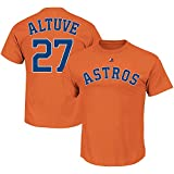 OuterStuff Jose Altuve Houston Astros #27 Orange Youth Name and Number Shirt