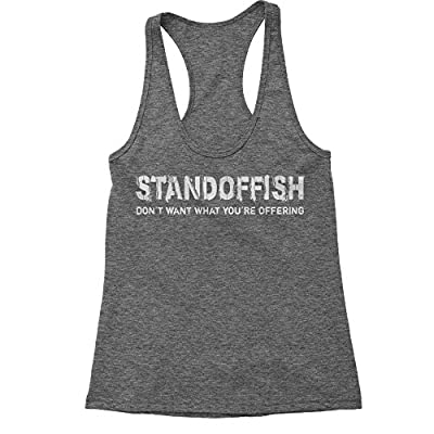 Expression Tees Standoffish Triblend Racerback Tank Top for Women
