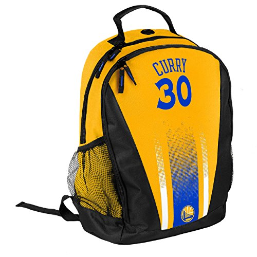 NBA Golden State Warriors Steph Curry Stripe Primetime Backpack, Yellow, One Size