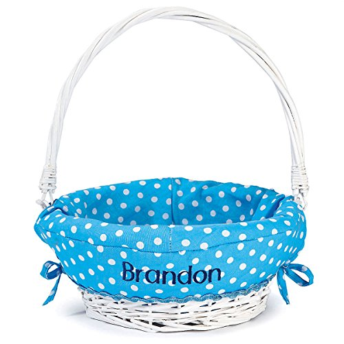 Personalized Blue Easter Basket for Boys, 11