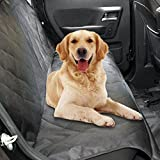 Pet Dog Seat Cover Waterproof Car Backseat Covers Dog Hammock Non-slip Scratch Proof Rear Seat Cover Protector for Pets,Fabric&Polyester Bench Seat Cover for Car Truck SUV,Extra Large Seat Cover,Black
