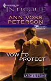 Vow to Protect, Ann Voss Peterson, 0373887116