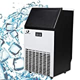 BEAMNOVA Commercial Ice Maker Machine Freestanding Ice Making Machine Built in Counter for Restaurant Bubble Bar, 35 LB Storage Bin, 68-100 LB Daily Ice Making Capacity, 6 Month Warranty
