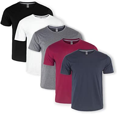 Men Boys Cotton Short Sleeve T-Shirts Fashion Fitness Round-Neck Tee Tops