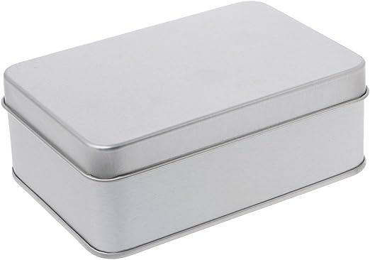 SimpleLife Metal Estaño Caja de Almacenamiento de Plata ...