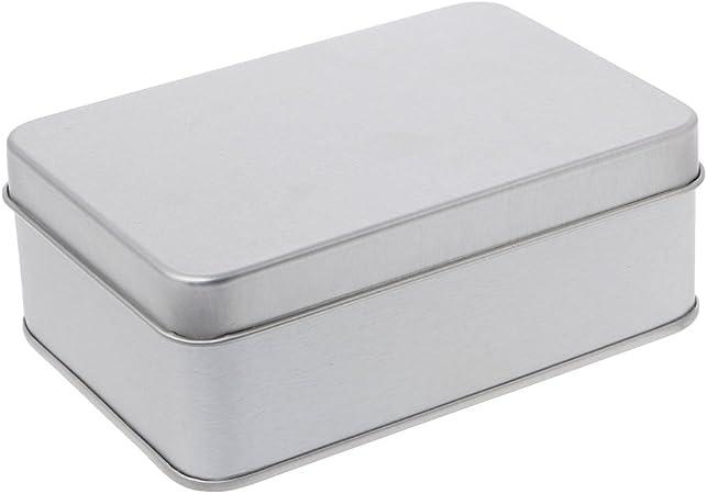 SimpleLife Metal Estaño Caja de Almacenamiento de Plata Organizador de Caja/Portamonedas Cápsulas Contenedor/Caja de Dulces (Plata): Amazon.es: Hogar