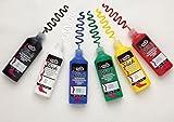 Tulip 10046125 Dimensional Fabric Paint Party Pack, Permanent 3D Paint for Fashion DIYs, Arts & Crafts, Rainbow & Neon Colors