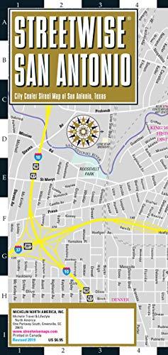 Streetwise San Antonio Map: Laminated City Center Map of San Antonio, Texas (Michelin Streetwise Maps)