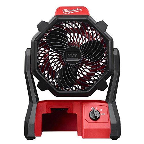 Milwaukee 0886-20 M18 18-Volt 2,350-Rpm Adjustable Jobsite Fan w/ AC Adapter (item_by#MaxTool Super Sale ,ket134121983572589