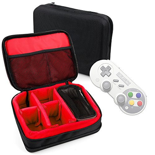 DURAGADGET Protective EVA Gadget Case (in Red) for 8Bitdo SF30/SN30 PRO Bluetooth Gamepads by DURAGADGET