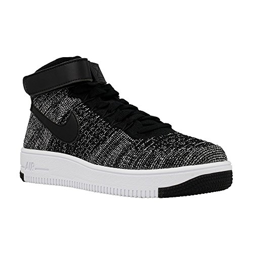 NIKE Kid's AF1 Ultra Flyknit Mid GS, Black/Black-White, Youth Size 6.5