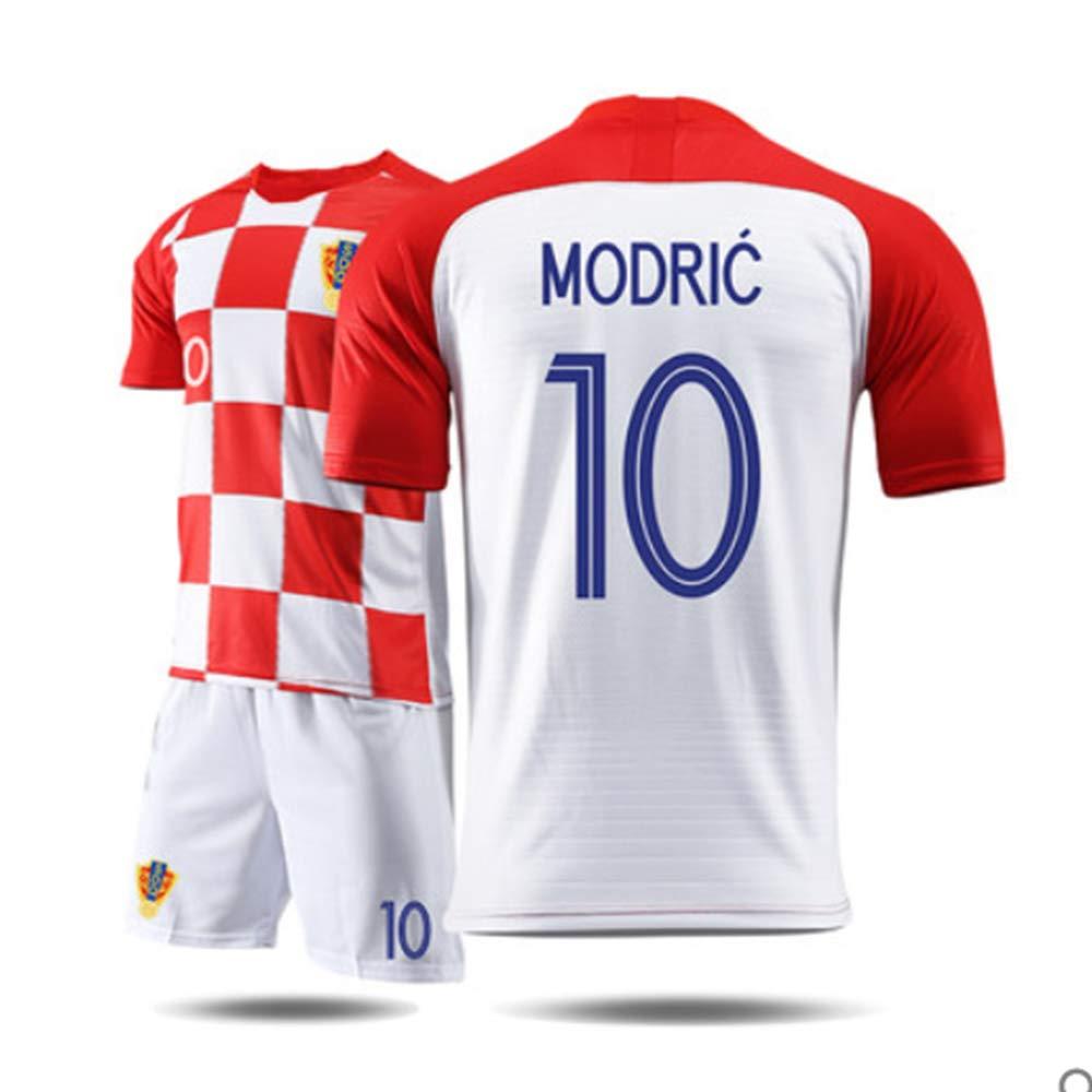 SHINEBON Croacia Modric#10 RM F/útbol Home Camiseta Y Pantalones Calcetines 2018//19 Todos Los Tama/ños NI/ÑO Juventud Y Adulto
