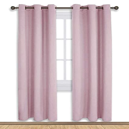 NICETOWN Blackout Curtain Panels For Girls Room Nursery Essential Thermal Insulated Solid Grommet Top Drapes