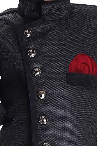 JBN Creation Boys' Black Cotton Blend Sherwani Style Kurta Set(VASBSW120MA_30) by VASTRAMAY (Image #2)