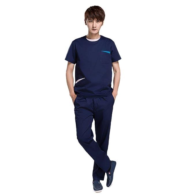 Amazon.com: Pinji Uniforme de enfermera, de manga corta ...