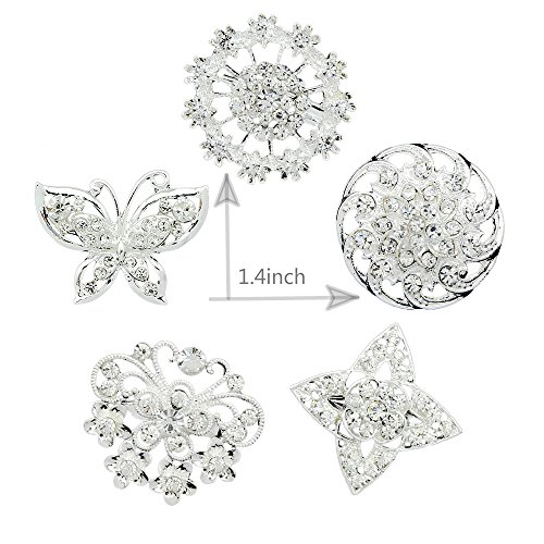 [5pcs Lot Brooch Pins for Wedding Bouquet Party Decorations] (Butterfly Costume Jewelry)