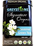Premium Organic Green Tea Jasmine - Superfood Tea Tin - Keto/Paleo Diet Compatible - Kosher - Non-Gmo - Pure Herbs No added Scents or Flavors