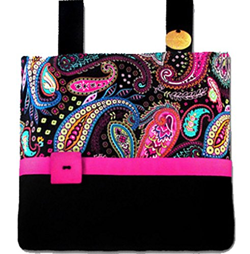 (Pretty Paisley Pink & Black - Fashionable, Functional Walker Bag)