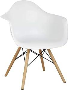 Hodedah Import Mid Century Modern Chair, Single