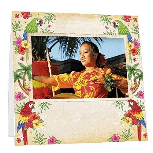 Fuji InstaxTM Tropical Luau Lightweight Paper Frame Our Price is for 100 Units - 3.75x2.380 by SendAFrame