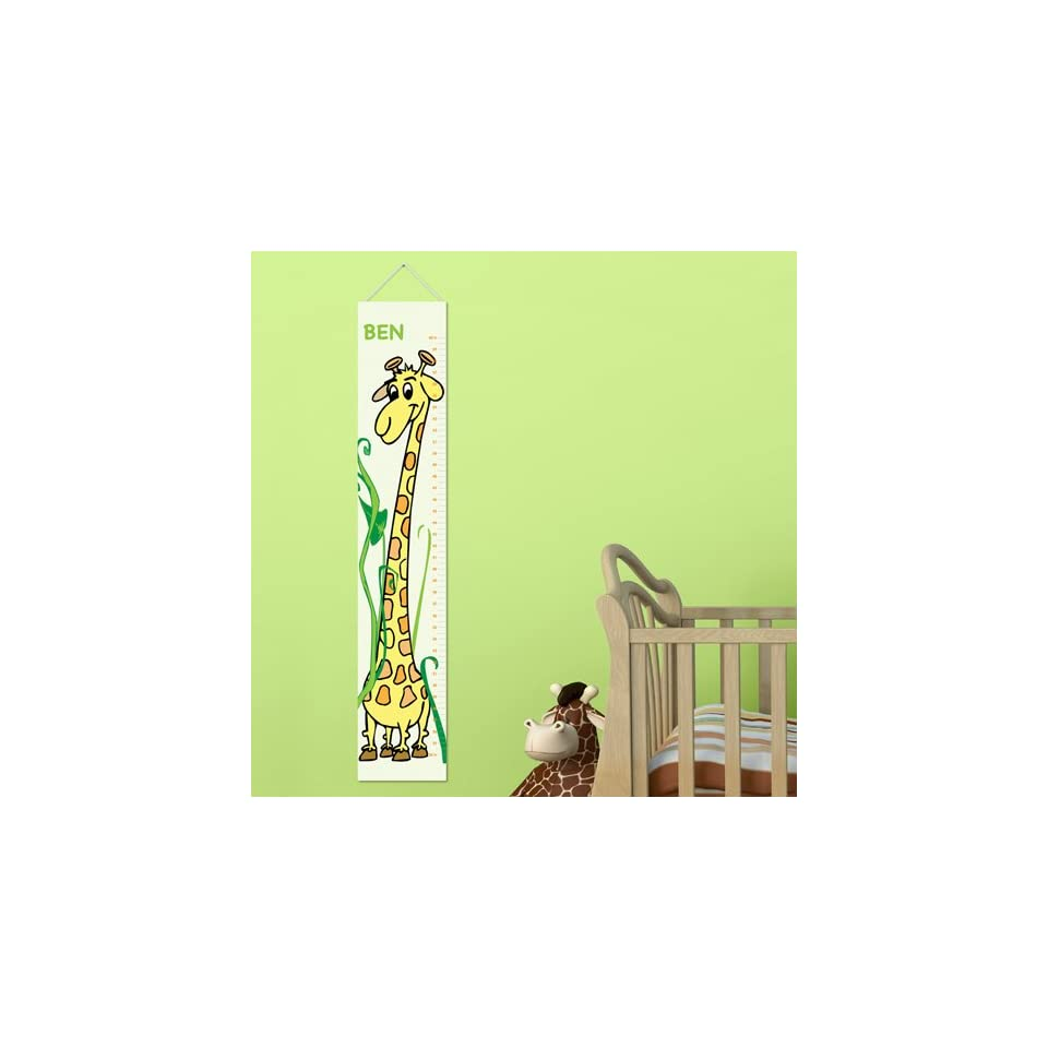 Personalized Kids Room Growing Giraffe Height Chart Decoration