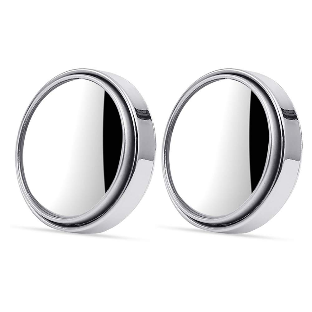 50mm Diameter 360 Wide Angle Adjustable Extra Mirror Black Set of 2 Uscyo Auto Blind Spot Mirror