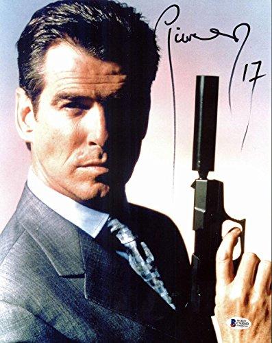 - Pierce Brosnan James Bond 007 Signed 11x14 Photo Autographed BAS 1 - Beckett Authentication