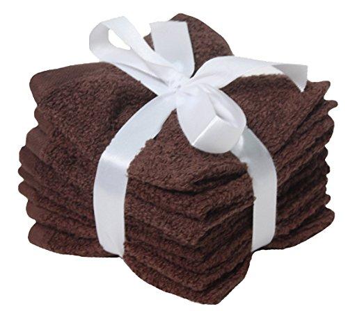 Woven Bamboo Throw (J&M Home Fashions Premium 8-Piece Cotton Washcloth Set, 12x12