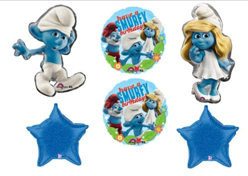 Smurf Smurfette Movie Birthday Party Balloons Decorations Supplies