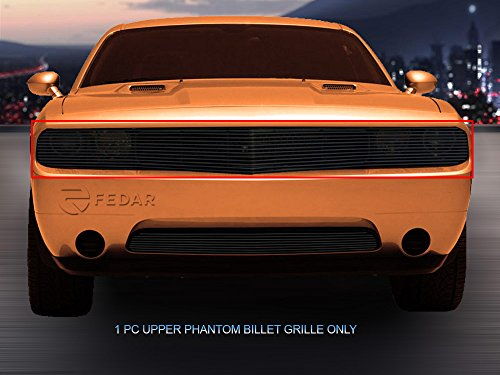 Fedar 2009-2014 Dodge Challenger Phantom Bolt Over Style Billet Grille Grill 1-pc Set-Black #320521 (Challenger Headlight Covers Dodge)