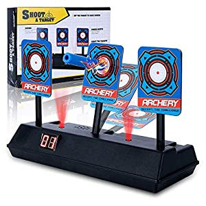 Cyiecw Electric Scoring Auto Reset Shooting Digital Target for Guns Nerf N-Strike Elite/Mega/Rival Series Digital Targets with Light Sound Effect