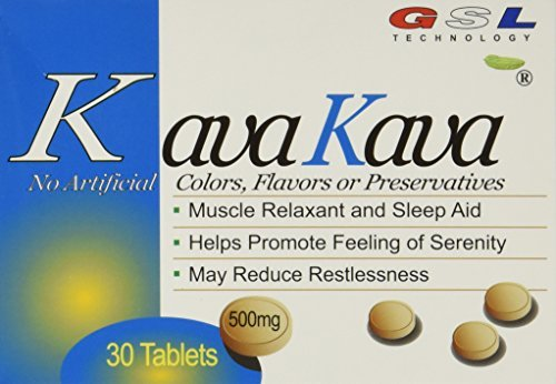(6 Packs) kava kava muscle relaxant and sleep aid 500 mil...