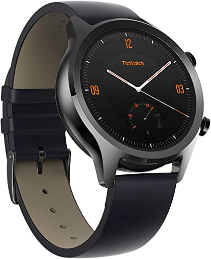 Mobvoi Ticwatch C2, Wear OS by Google Classic smartwatch, IP68 Sweat and Waterproof, Google Pay, Compatible with iPhone and Android- Onyx (Black)