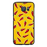 S6 Edge Case Chili Peppers Chiles Red - Case for Galaxy S6 Edge - Protector Cover for Samsung S6 Edge