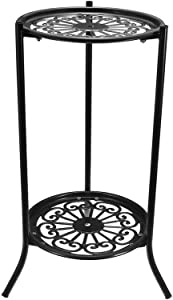 Ritioneer Plant Stands Indoor Metal, 2 Holder Metal Plant Pot Stand Flower Display Shelf Garden Patio Home Outdoor