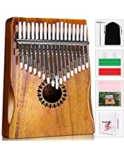 Kalimba Thumb Piano 17 Keys, Portable Mbira Finger Piano Gifts for Kids and Adults Beginners photo