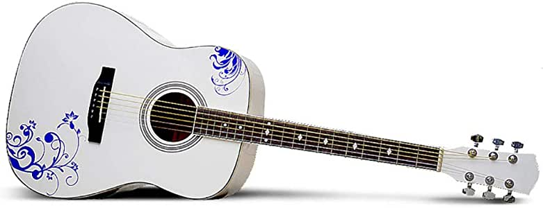 NUYI 41 Pulgadas Guitarra Acústica De Cuerdas De Acero Porcelana ...