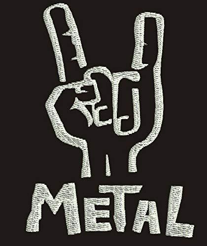 Metal Musik Rock Garni de Broderies Super la qualité Prime, Veste sans Manches Gilet - 8176