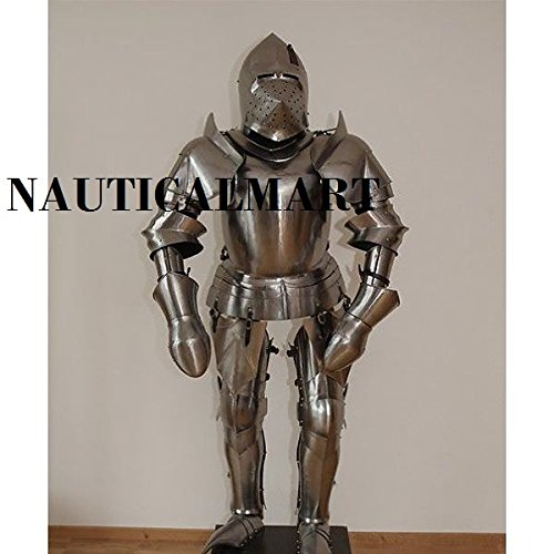 LARP- Medieval re-enactment 15th century suit of armor Milanese style costume by NAUTICALMART
