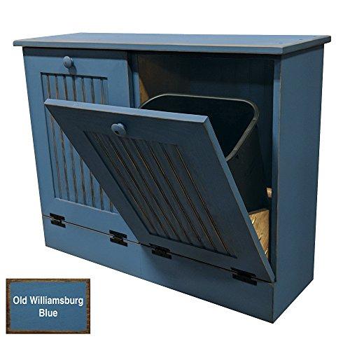 Sawdust City Tilt Out Trash Cabinet (Old Williamsburg Blue)